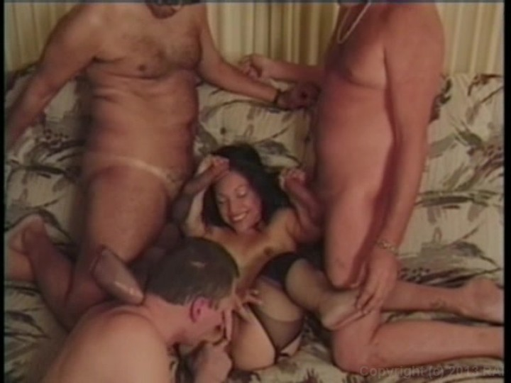 Midget interracial gangbang
