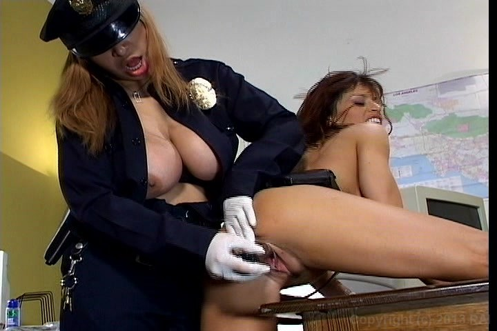 Free Video Preview image 6 from Big Boob Lesbian Cops #2